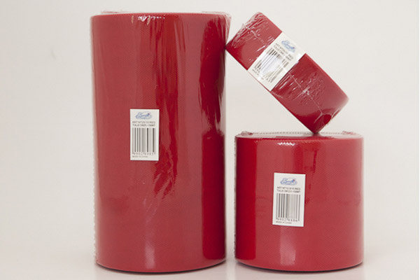 ROT.TULLE 12.5CM X 100MT COL.ROSSO